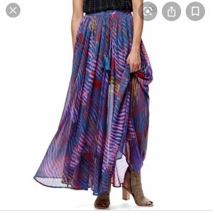 Free people multicolor maxi skirt